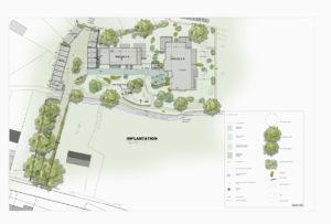 Projet d'aménagement des espaces communs d'un immeuble (Brabant Wallon)