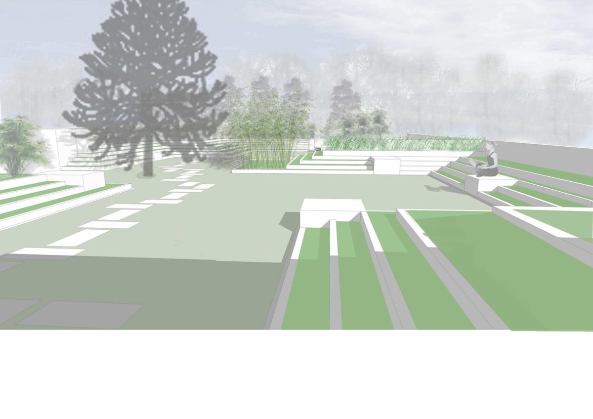 Plan de composition   Geneviève Errembault, architecte paysagiste - landscape designer Bruxelles