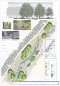 Remise à ciel ouvert d'un tronçon de la Woluwe avec création d'un parc paysager et gestion de l'eau de la rivière